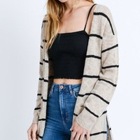 Good To Go Cardigan - Taupe
