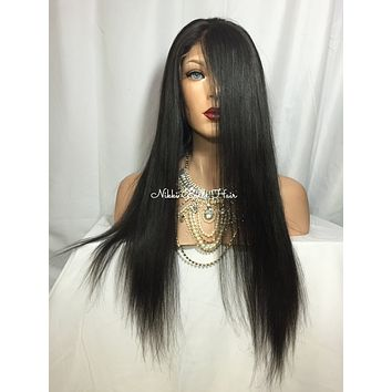 Black Remy Human Hair Full Lace Wig - Jane