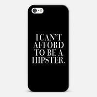 I Can't Afford to be a Hipster Vogue Typography iPhone 5s case by Rex Lambo   Casetagram