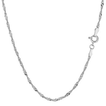 14K White Gold Singapore Chain - Width 1.7mm