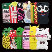 For iphone 5 5s SE Case 3D Silicon Minnie Cat Unicorn Dog Minnie Cupcake Cartoon Soft Phone Cover for iphone 5 5S SE