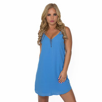 Close To Heart Shift Dress In Blue