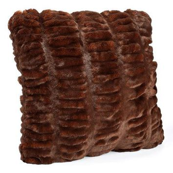 Mahogany Mink Faux Fur Pillows by Fabulous Furs