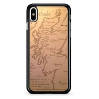 Outlander Map iPhone X Case