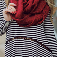 Forever Darling Infinity Scarf - Cranberry