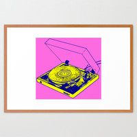 Record Player Framed Art Print by Mad Dope | Society6