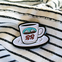 Twin Peaks Double R Coffee Enamel Pin
