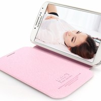 Wonderful Imitated Leather Phone Shell Multi-Color Embellished Cover for Samsung i9300 (pink)
