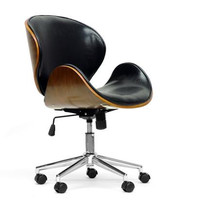 Bruce Walnut and Black Office Chair