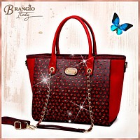 Twinkle Star Vegan Leather Vogue Luxury Tote Travel Bag for Women