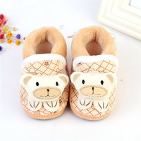 Baby Snow Boots Toddler shoes Baby Girl Shoes Knitted Cartoon Bear Infant born Baby Shoes Footwear LL4 SM6