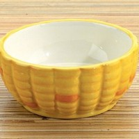 Corn Ceramic Dipping Bowl, Set Of 2 Serveware