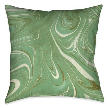 Green Marble Decorative Pillow