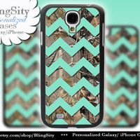 Camo Mint Chevron Galaxy S4 case S5 Real Tree Camo Deer Personalized Monogram Samsung Galaxy S3 Case Note 2 3 Cover