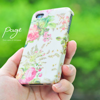 Apple iphone case for iphone iphone 4 iphone 4s iphone 3Gs : Vintage beautiful rose pattern