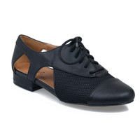 Black Cut Out Oliver Oxford Flats