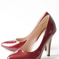 rosemary pumps in wine at ShopRuche.com