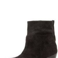 Coconuts True Black Slouchy Ankle Boots
