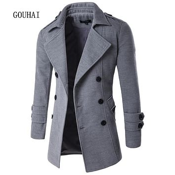 2017 Autumn Winter Jacket Men Peacoat Mens Jackets And Coats Brand Clothing Male Chaqueta Hombre Wool & Blends Men M-XXL