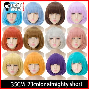 Red White And Blue Bob Party Wig Costumes 6 Ct.