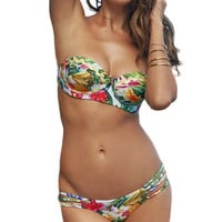 Tropical Two Piece Bikini