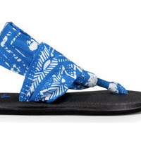 Sanuk Womens Tribal Bright Blue Yoga Sling 2 Sandals