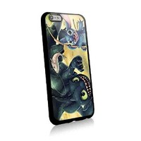 Stitch and Toothless Fishing for Iphone and Samsung Galaxy Case (iphone 6 plus black)