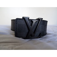 "MENS LOUIS VUITTON GRAPHITE DAMIER BELT EXCELLENT CONDITION 90/36 FOR 32"" WAIST"