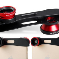 3 in 1 Macro Wide angle & Fish-eye Lens for iPhone 6\6s