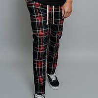 Plaid Fitted Joggers