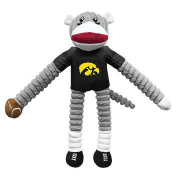 Iowa Hawkeyes Sock Monkey Pet Toy
