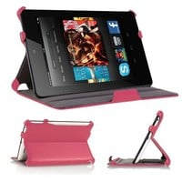 """KAYSCASE BookShell Slim Cover Case for Amazon Kindle Fire HD 7"""" inch Tablet, 2012 Version, Auto Sleep Wake, Lifetime Warranty (Hot Pink)"""
