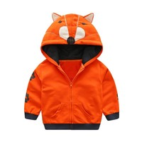 Infant/Toddler Boy Animal Hooded Zipper Top