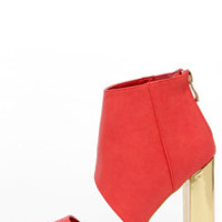 Craze the Roof Coral Cutout Booties