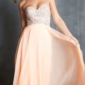 Night Moves Strapless Sweetheart Gown