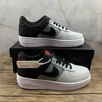 Morechoice Tuhy Nike Air Force 1 07 Lv8 Black Smoke Grey Low Sneakers Casual Skaet Shoes CZ0337-001