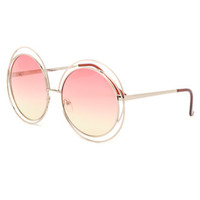 With Love From CA Oversized Metal Round Sunglasses at PacSun.com