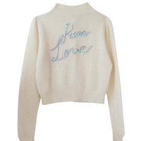Pure Love Button Front  Sweater
