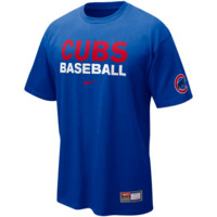 Nike Chicago Cubs Practice T-Shirt - Royal Blue