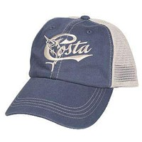 Retro Trucker Hat in Slate Blue & Stone by Costa Del Mar