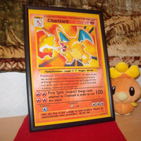 Retro Charizard - A4 Pokémon Card Poster