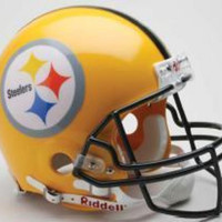 2007 75Th Anniversary Pittsburgh Steelers Gold Mini Replica Mini Helmet