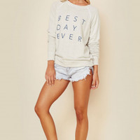 BEST DAY EVER KNIT PULLOVER