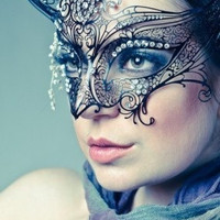 Gossip Girl Serena Masquerade Mask -  Serena Van Der Woodsen Luxury Filigree laser cut Metal Masquerade Ball Mask
