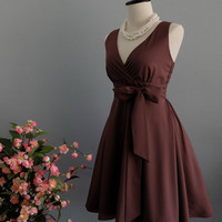 My Lady II Spring Summer Sundress Dress Chocolate Brown Party Dress Choco Brown Bridesmaid Dress Garden Party Sundress Choco Dress XS-XL