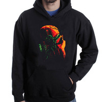 The Green Arrow black hoodie for men and women