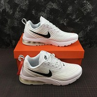 Nike Air VaporMax Flyknit White/Black Logo Running Shoes - 40-45