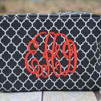 Monogrammed Make Up Bag - Monogrammed Cometics Case