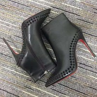 Christian Louboutin Cl Women Leather Ankle Boots Reference #22 - Best Deal Online