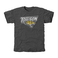 Towson Tigers Distressed Primary Tri-Blend T-Shirt - Charcoal